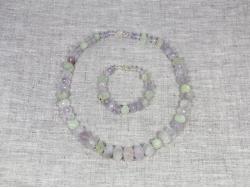 Комплект бусы и браслет из аметрина и пренита от Nur