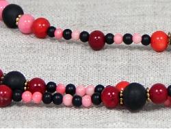 Комплект бусы и браслет из шунгита и коралла от Nur