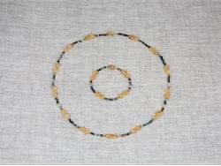Комплект из бус и браслета из турмалина и цитрина от Nur